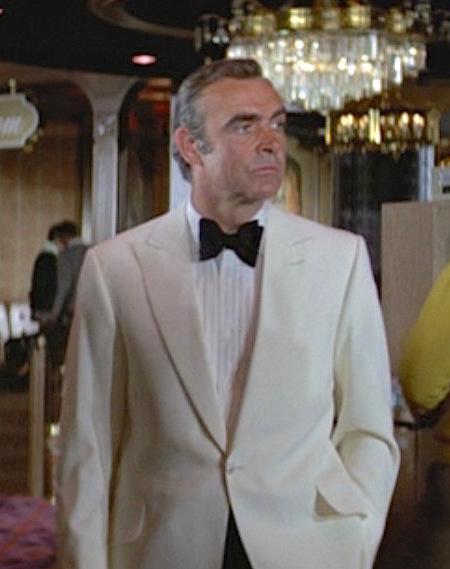 Bond S White Dinner Jacket In Diamonds Are Forever Bamf Style