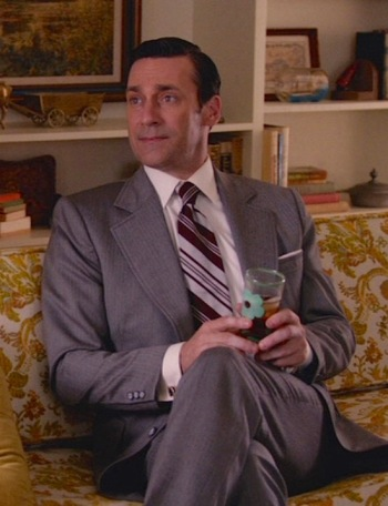 "Jon Hamm as Don Draper on Mad Men (Episode 7.12: ""Lost Horizon"")"