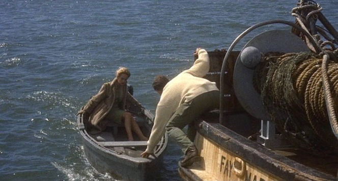 Mitch guides Melanie back to Bodega Bay.