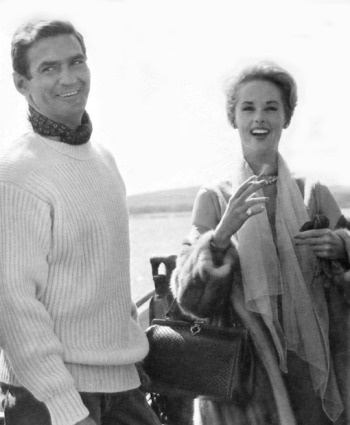 Rod Taylor and Tippi Hedren in The Birds (1963)