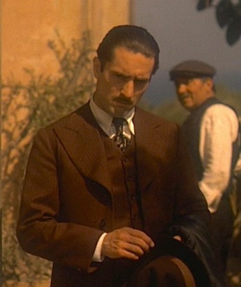 Robert De Niro as Vito Corleone in The Godfather, Part II (1974)