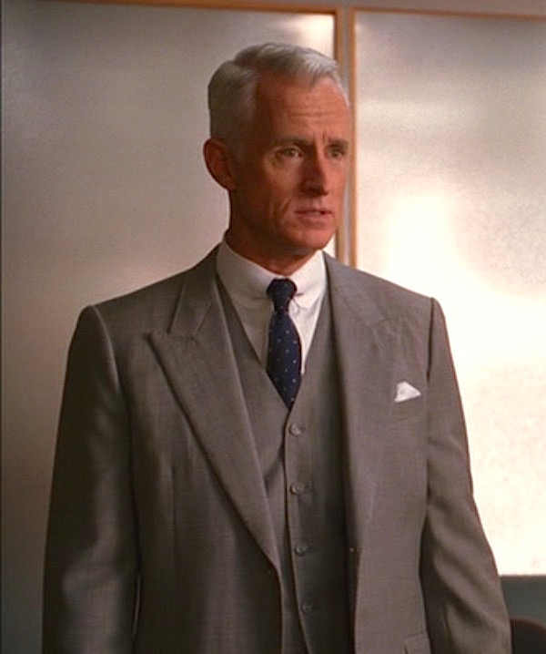 top-rated original great deals 2017 quality first Roger Sterling's Gray Labor Day Suit | BAMF Style