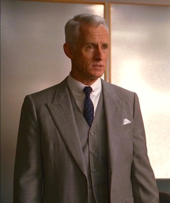 "John Slattery as Roger Sterling on Mad Men (Episode 1.10: ""Long Weekend"")"
