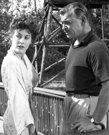 Ava Gardner and Clark Gable in Mogambo (1953)