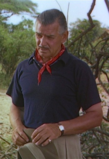 Clark Gable as Victor Marswell in Mogambo (1953)