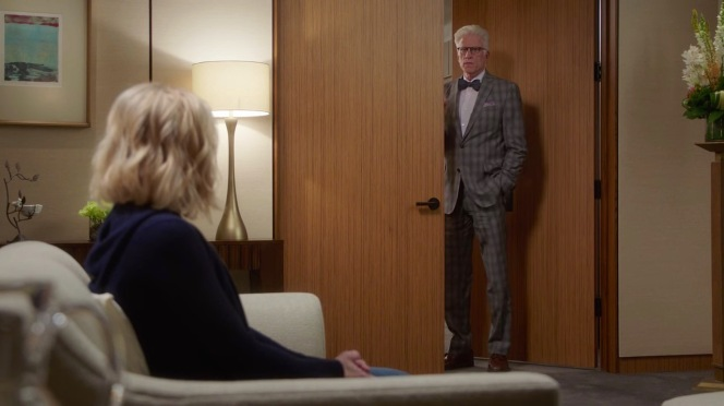 """Most Improved Player"" (Episode 1.08) begins with a somber Michael calling Eleanor into his office."