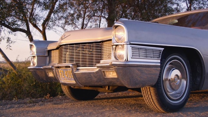 "Don's Cadillac comes to an unwelcome stop in ""The Milk and Honey Route"" (Episode 7.13)."