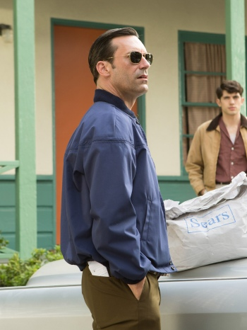 """Jon Hamm as Don Draper on Mad Men (Episode 7.13: """"The Milk and Honey Route"""")"""