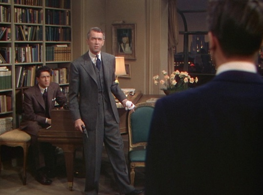 "The full fit of 1940s tailoring was beneficial for a lanky guy like Jimmy Stewart, who would likely look like a lopsided string bean in the ""skinny fit"" suits of the 2010s."