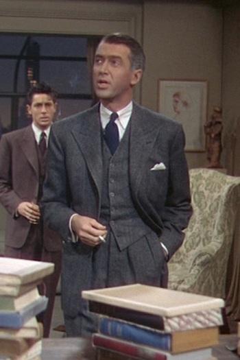 James Stewart as Rupert Cadell in Rope (1948)