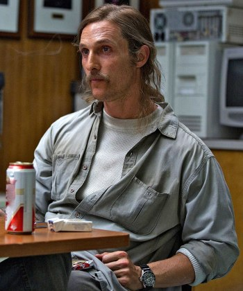 "Matthew McConaughey as Rustin ""Rust"" Cohle on HBO's True Detective."