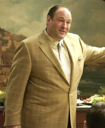 "James Gandolfini as Tony Soprano on The Sopranos (Episode 5.02: ""Rat Pack"")"
