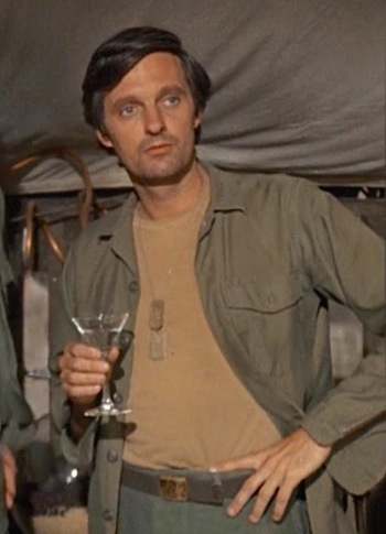 "Alan Alda as Captain ""Hawkeye"" Pierce on M*A*S*H, Episode 1.06 (""Yankee Doodle Doctor"")."
