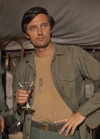 "Alan Alda as Capt. ""Hawkeye"" Pierce on MASH (1972-1983)"