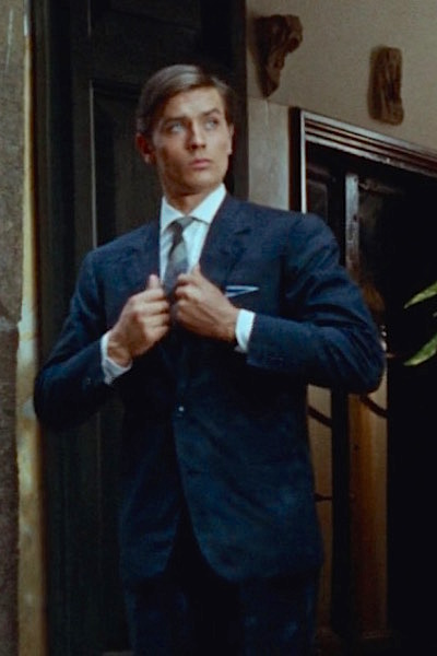 e0ee2c1366875 Purple Noon: Alain Delon's Blue Silk Suit | BAMF Style