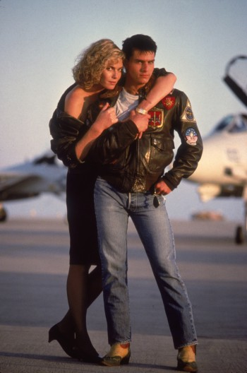 Tom Cruise and Kelly McGillis in Top Gun (1986)