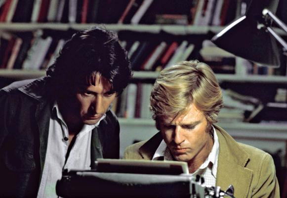Carl Bernstein (Dustin Hoffman) and Bob Woodward (Robert Redford) in All the President's Men (1976)