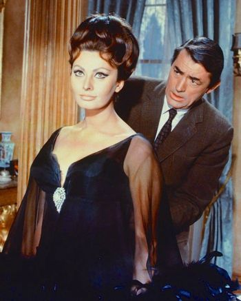 Gregory Peck and Sophia Loren in Arabesque (1966)