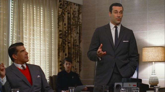 Don wows his audience with a sharp suit and a sharp presentation.