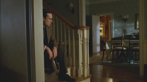 """Don, home alone and desperate for the family surroundings he had previously taken for granted. (Episode 1.13: """"The Wheel"""")"""