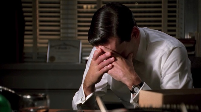 "Late night anguish in ""The Wheel"" (Episode 1.13)."