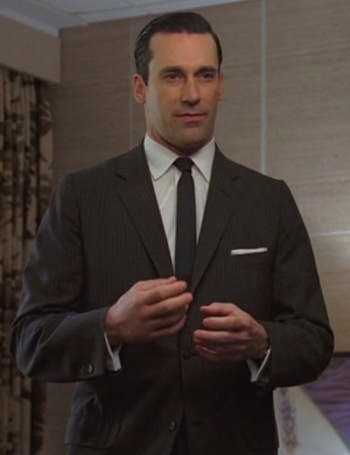 "Jon Hamm as Don Draper in ""The Wheel"", Episode 1.13 of Mad Men."