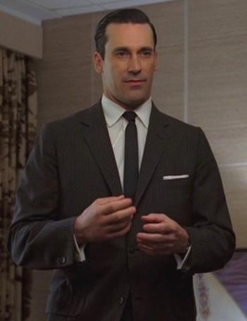 "Jon Hamm as Don Draper in ""The Wheel"", Episode 1.13 of Mad Men."