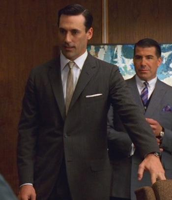 "Jon Hamm as Don Draper in ""New Amsterdam"", Episode 1.04 of Mad Men."