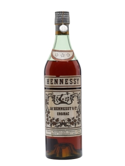 A 1950s bottle of Hennessy Three Star, similar to what Clark Gable would have poured himself as Victor Marswell in Mogambo (1953).