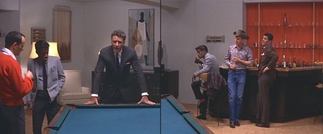 "Erstwhile lieutenant Jimmy Foster (Peter Lawford) calls the ""alumni meeting"" to order."