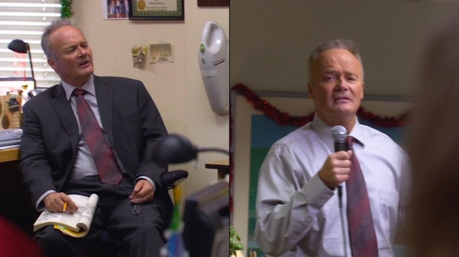 Creed Bratton, unironically one of the best-dressed men at Dunder-Mifflin this holiday season.