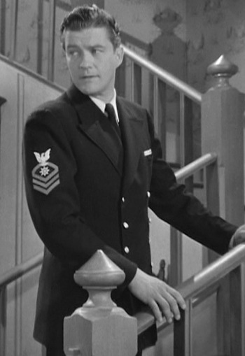 Dennis Morgan as CQM Jefferson Jones in Christmas in Connecticut (1945)