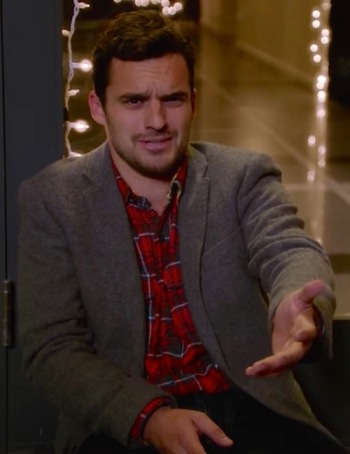 "Jake Johnson as Nick Miller on New Girl (Episode 1.09: ""The 23rd"")"