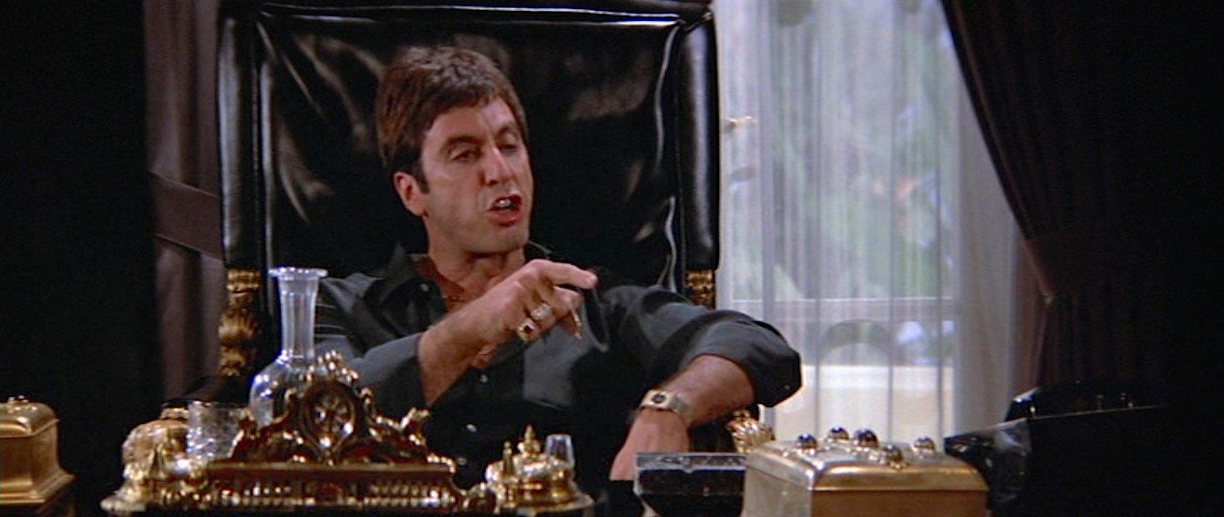 Tony Montana S White Suit In Scarface Bamf Style