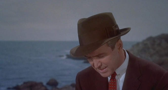 Jimmy Stewart's well-traveled Churchill hat appears throughout Vertigo.
