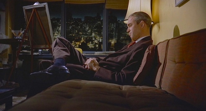 Taking it easy on Midge's mid-century couch.