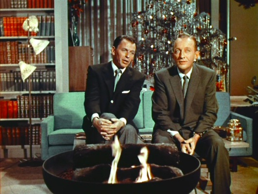 """Frank joins Bing for a duet of """"The Christmas Song""""."""