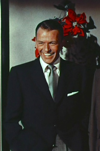 """Frank Sinatra in """"Happy Holidays with Bing & Frank,"""" the 1957 Christmas special episode of The Frank Sinatra Show."""