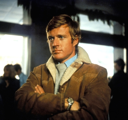 Production photo of Robert Redford in Downhill Racer (1969).