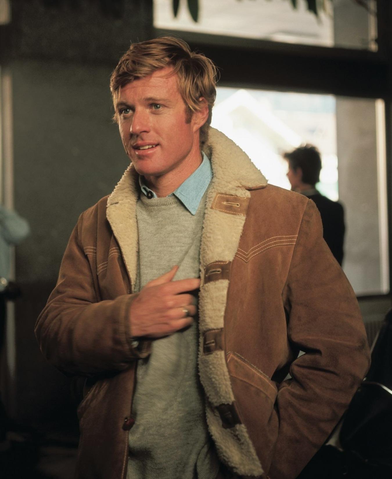 2075d9300db Robert Redford s Shearling Jacket in Downhill Racer. Robert Redford as  David Chappellet in Downhill Racer (1969)