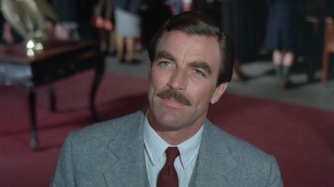 Selleck's trademark mustache gets plenty of glorious screen time in Lassiter.