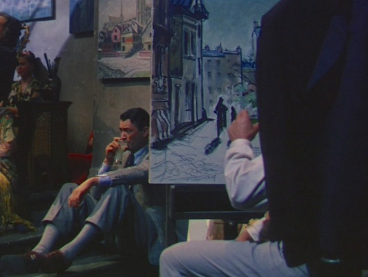 Harry sits on the floor of a crowded but quiet Paris nightclub, drinking Pernod and listening to jazz. Just a few feet to his left sits an artist, studiously working on a painting of a Paris street, while to his right is the alluring woman he'll fall instantly in love with. Welcome to the Lost Generation.