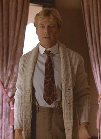 Robert Redford as Roy Hobbs in The Natural (1984)