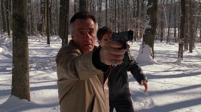 To paraphrase Han Solo, Paulie Walnuts sometimes amazes even himself, notably when he downs Valery with a single headshot... only for the resilient Russian to stagger to his feet and keep running.