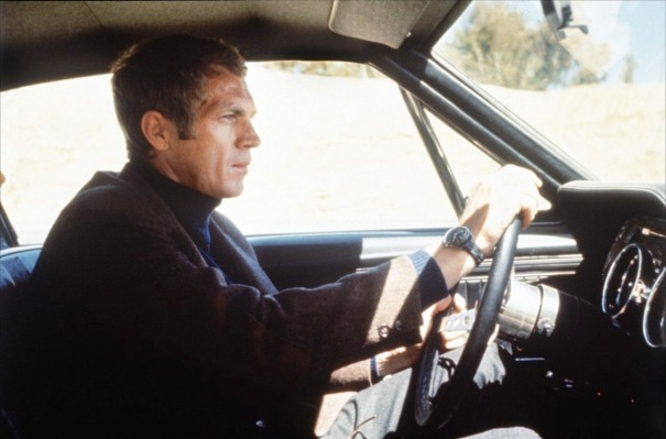 McQueen as the titular police lieutenant in Bullitt (1968)