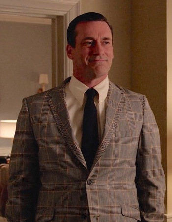 "Jon Hamm as Don Draper on Mad Men (Episode 7.01: ""Time Zones"")"