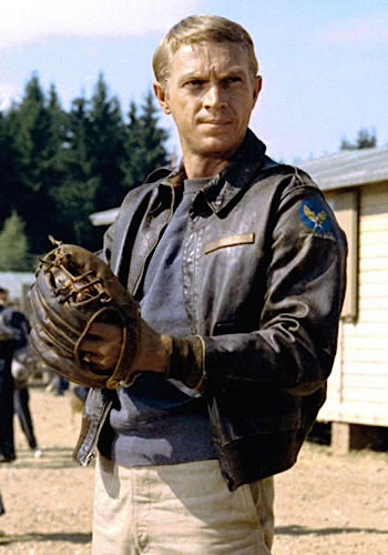Steve McQueen as Captain Virgil Hilts in The Great Escape (1963)