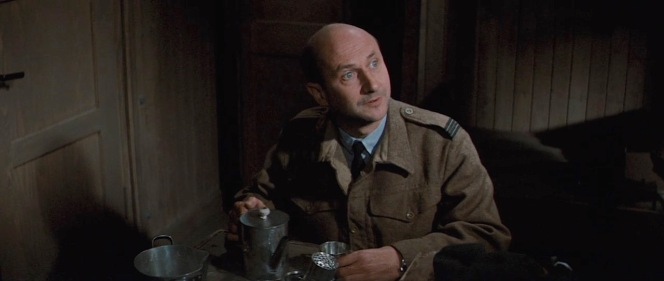 Donald Pleasance as Flight Lieutenant Colin Blythe in The Great Escape (1963)