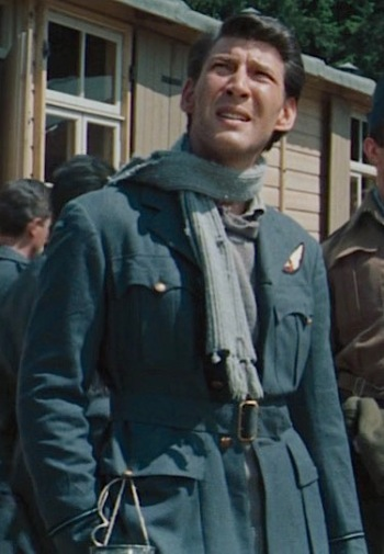 Lawrence Montaigne as Flying Officer Haynes in The Great Escape (1963)