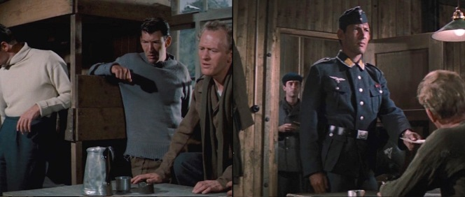 "Though primarily a background character, Haynes serves up lewks in Stalag Luft III: first, casually rocking the blue-gray RAF ""frock"" sweater in a cabin, then dangerously sporting a camp-made Luftwaffe uniform for the actual escape."